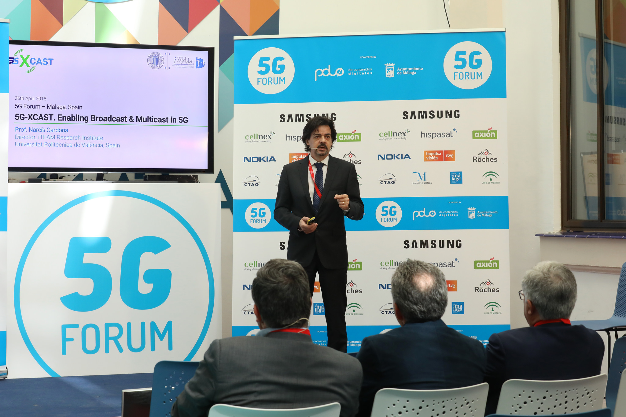 Prof. Narcis Cardona Presentation at the 5G Forum in Malaga