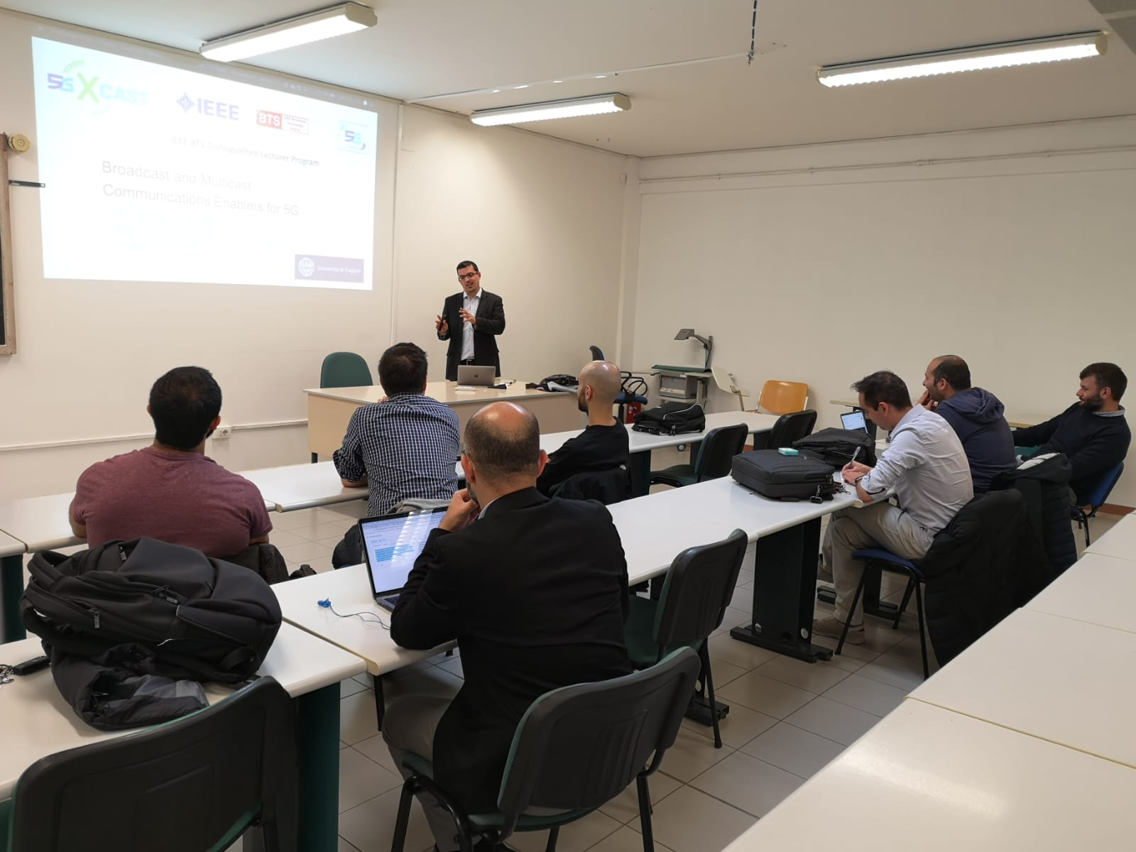 5G-Xcast lecture at the University of Cagliari